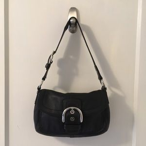 Coach Black Leather Hobo Soho Shoulder Bag Purse